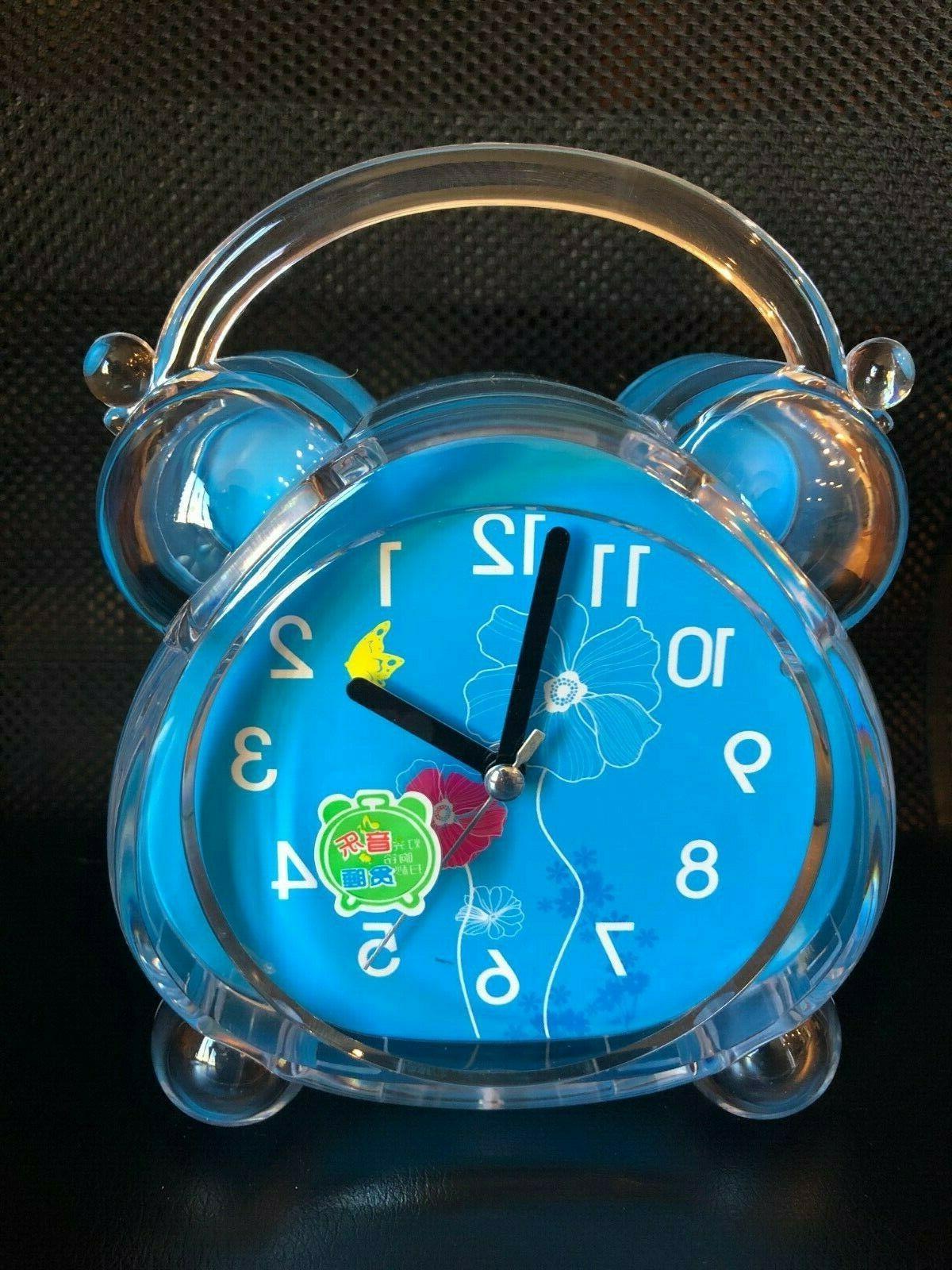 Silent Alarm Clock Bedside Kids Adult OR BELL SOUNDS