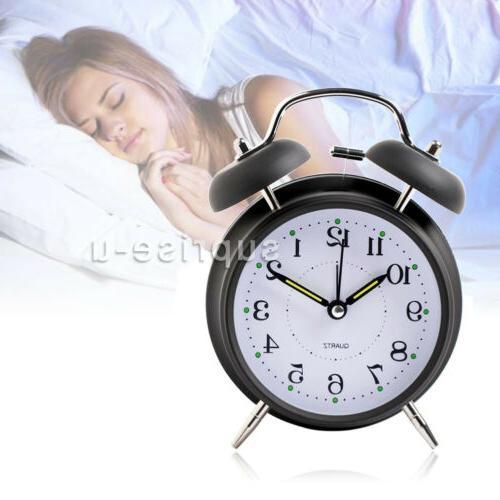 silent analog alarm clock vintage classic night