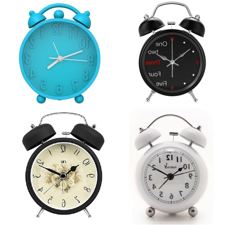 silent analog alarm clock vintage retro classic