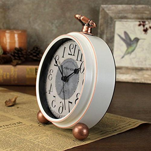 """5.5"""" Mantel Analog Non Ticking,Large Numerals Operated"""