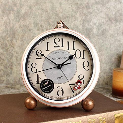 """5.5"""" Silent Clocks Mantel Quartz Analog Non Numerals Operated"""