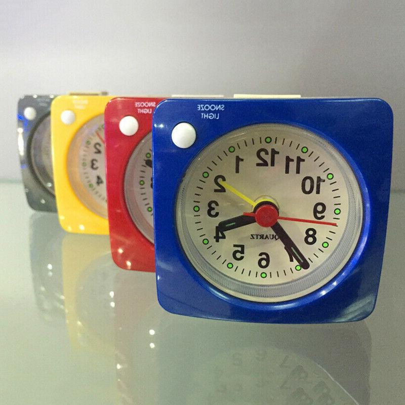 Silent Alarm Clock w/ Light Bedside Clock