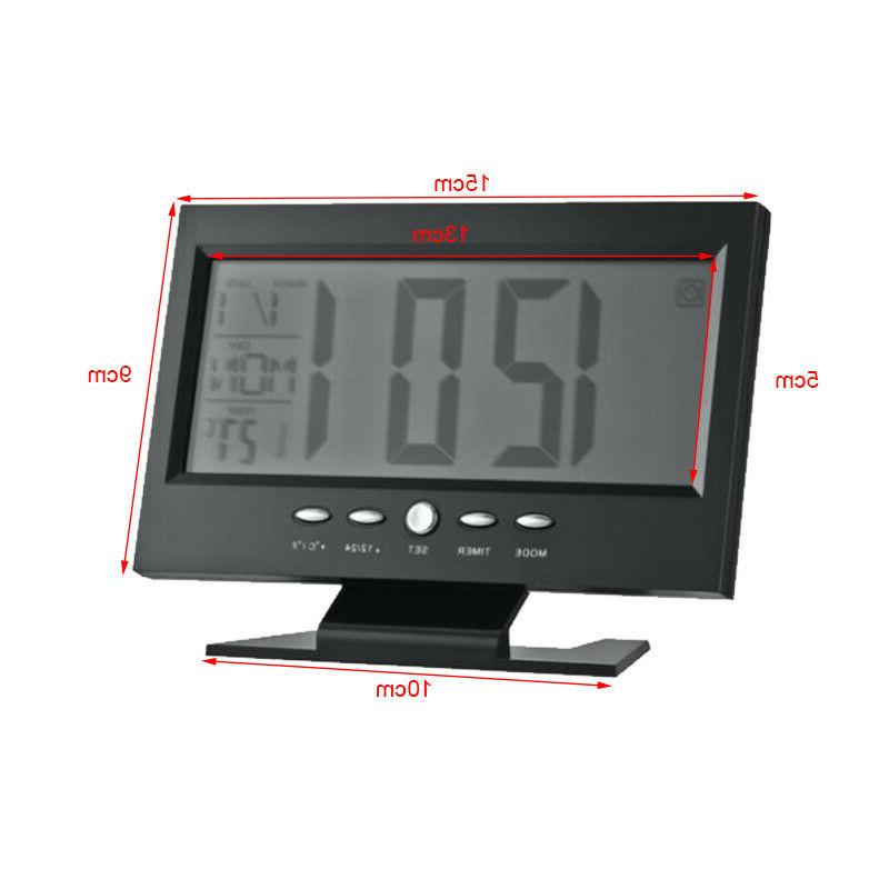 Large LED Alarm Snooze Clock Control Time Display NEW