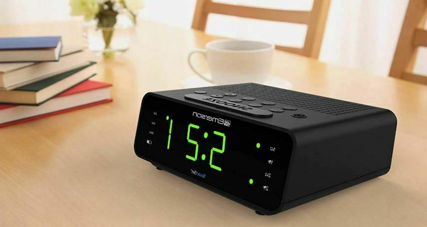 Emerson Set Clock Radio Radio Dimmer New