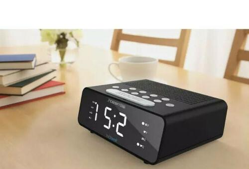 Emerson Set Dual Alarm Clock Radio Black Zones for States