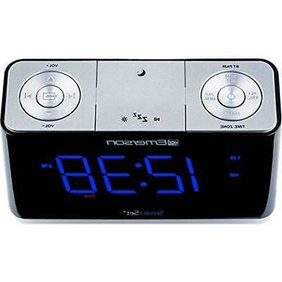 SmartSet Alarm Clock Radio with Speaker, Charger for An