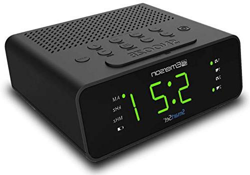 "Emerson Clock Radio with Radio, Dimmer, Timer .9"" LED CKS1900"