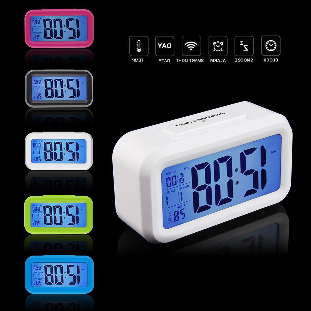 snooze electronic digital alarm clocks led light