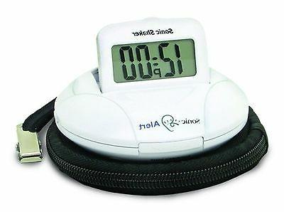 sonic shaker sbp100 vibrating travel alarm clock