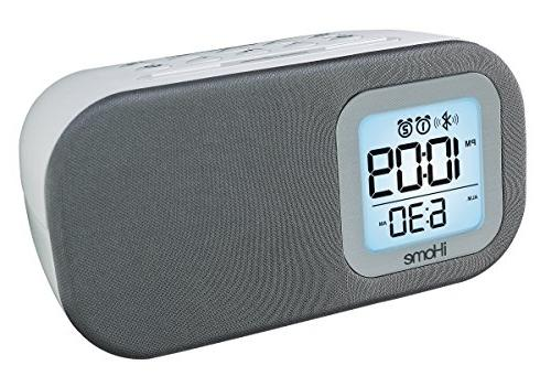 iHome iBT210WS Bluetooth Dual Alarm FM with Charging - White