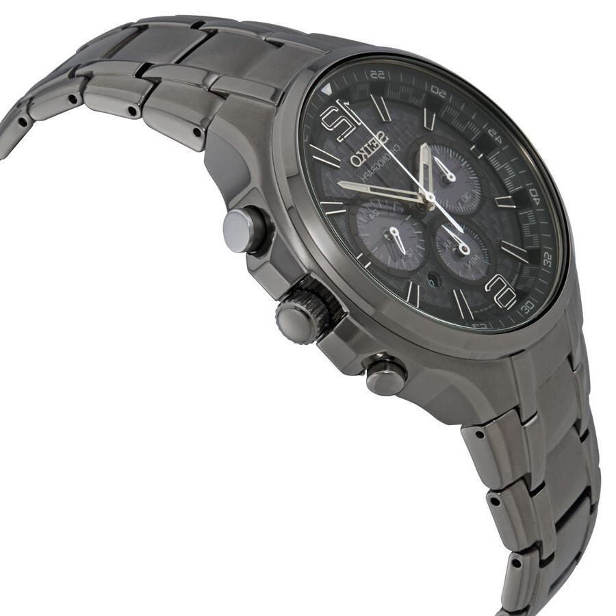 Seiko SSC453 Solar Steel Watch