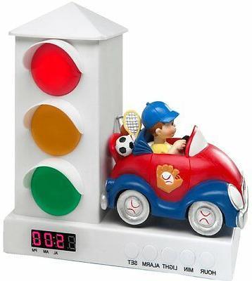 Stoplight Sleep Enhancing Alarm Clock Kids Sports Car Toddle