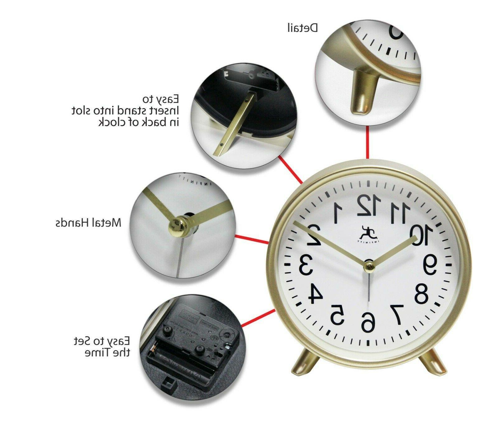 Stylish Gold 6 Tabletop Clock