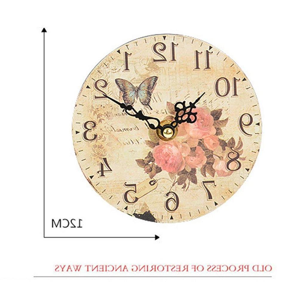 Adeeing Round Wall <font><b>Clock</b></font> <font><b>Bedroom</b></font> Study Office Home Decoration