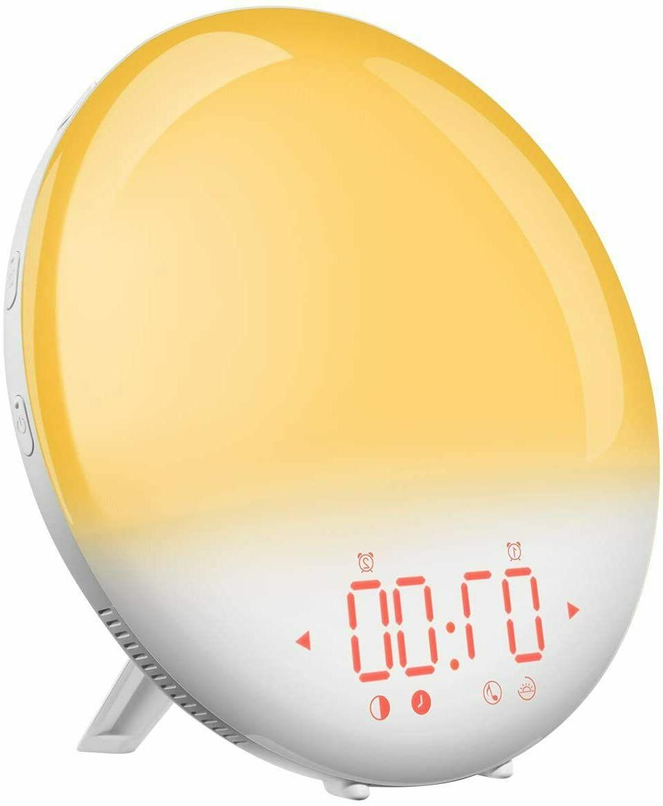 Peakeep 4/'/' Round  Alarm Clock with Snooze and Light Functions New Fast Ship
