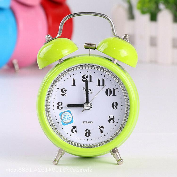 Super Double Quartz Alarm Night Light Kids Room US