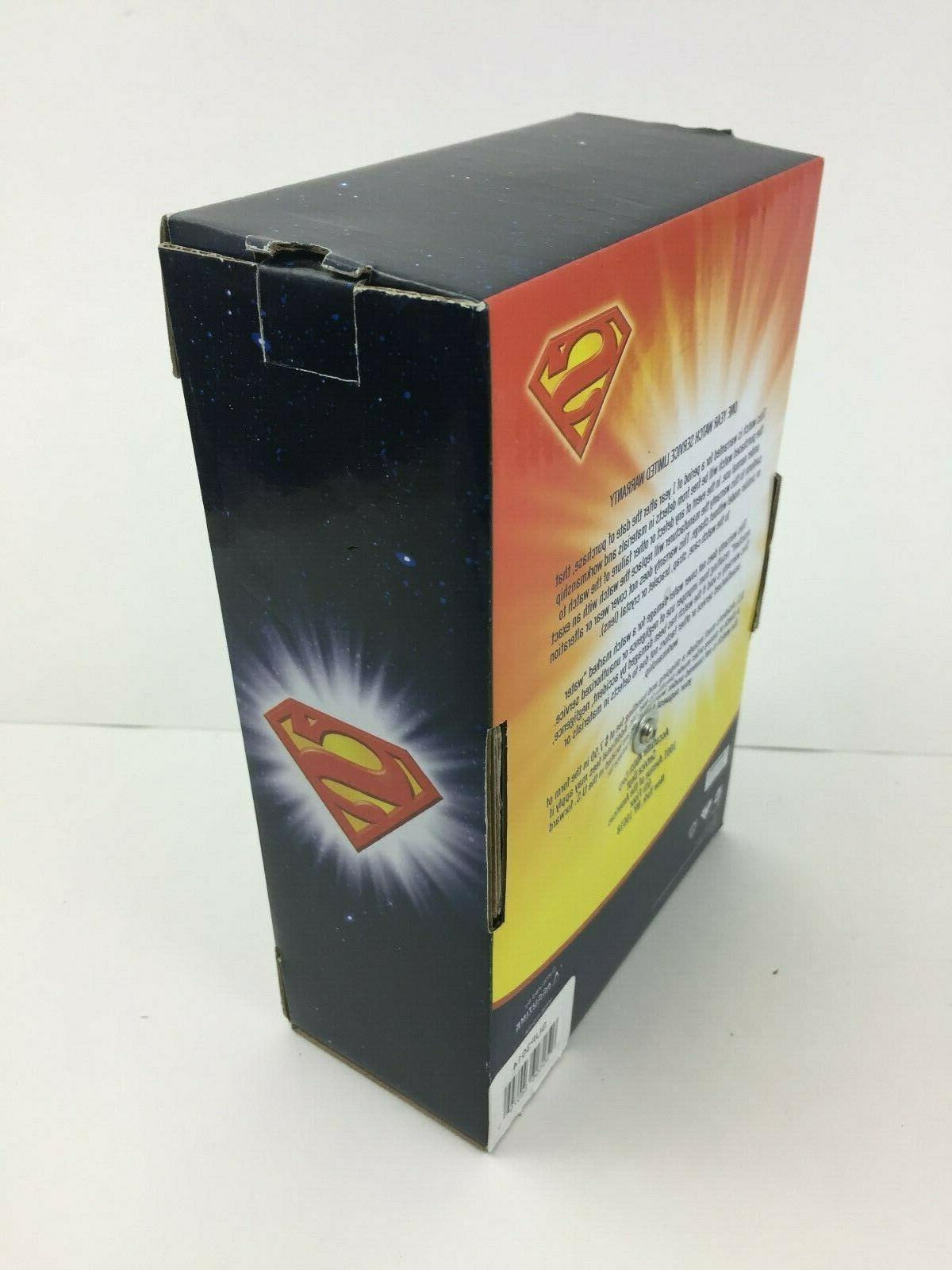 Superman DC Logo School Alarm Clock w/ Loud Ringing NIB