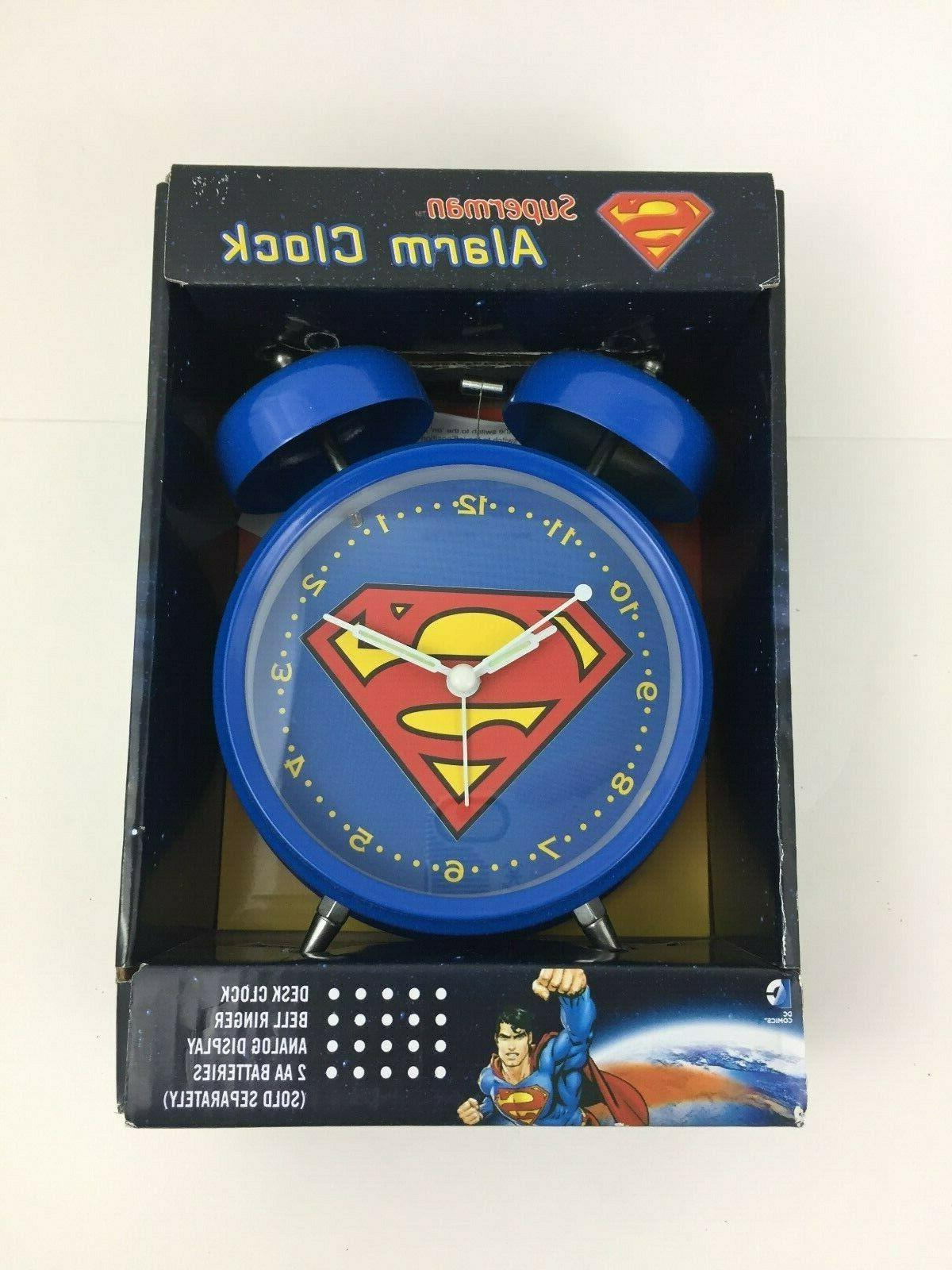 Superman DC School Clock Loud NIB