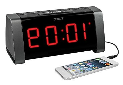 TIMEX AM/FM Dual Alarm Clock Jumbo LED Display &