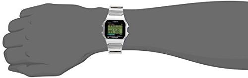 Timex Digital Silver-Tone Stainless Steel Expansion