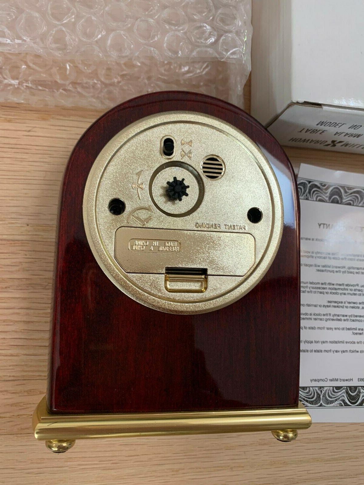 Howard Miller Table Clock 613-487 in Box