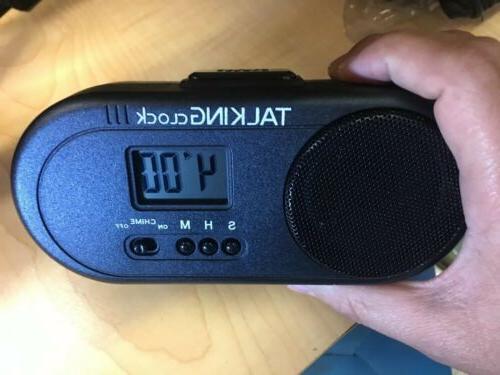 talking clock spanish battery power loud alarm