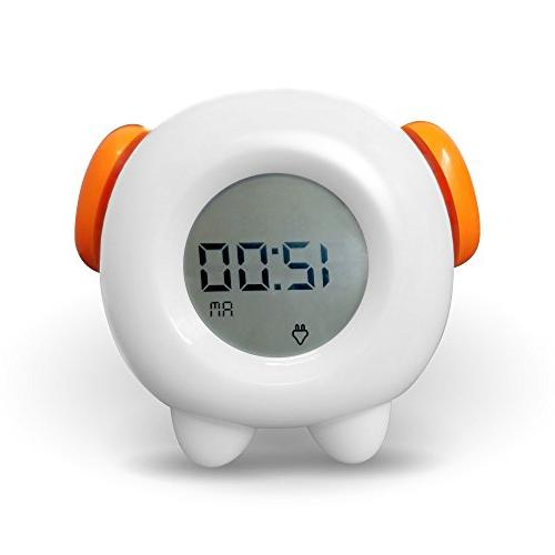 Toddler Stay-In-Bed Light Clock, Teaches Child When Ok-to Wa