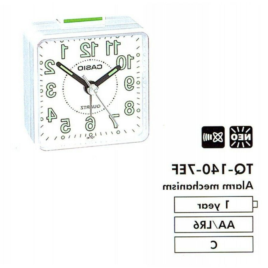 Casio TQ140-7D Desk Quartz Alarm Clock Resin Small