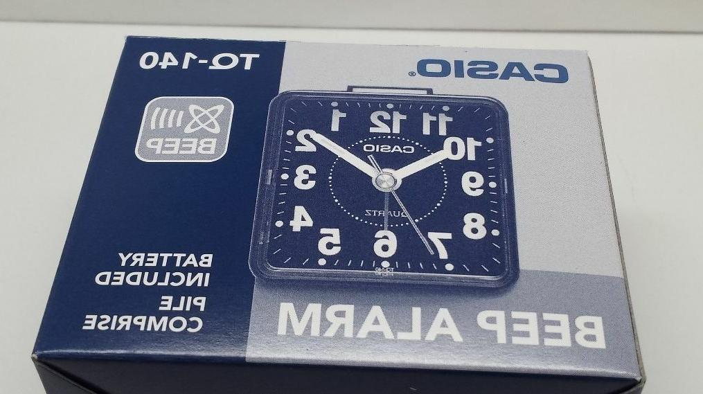 Casio Quartz Alarm Clock Resin Small