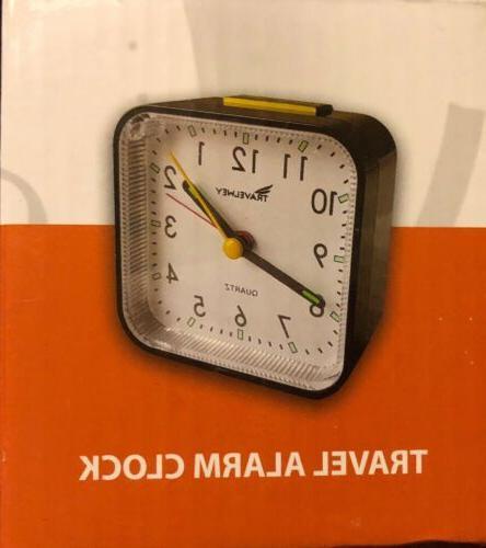 travel alarm clock no ticking big digits