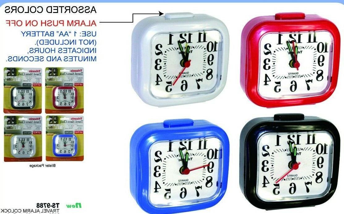 travel home alarm clock 3 x 3