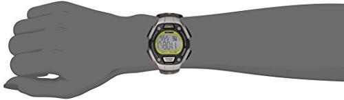 Timex Women's Ironman 30-Lap Digital Mid-Size Black/Silver-Tone/Lime