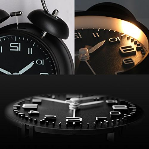 Bell Alarm - Metal Frame Dial with Desk Home and Midnight Black