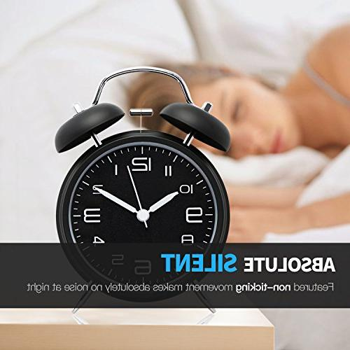 Betus Non-Ticking Bell - Metal with Backlight - Home - Midnight Black