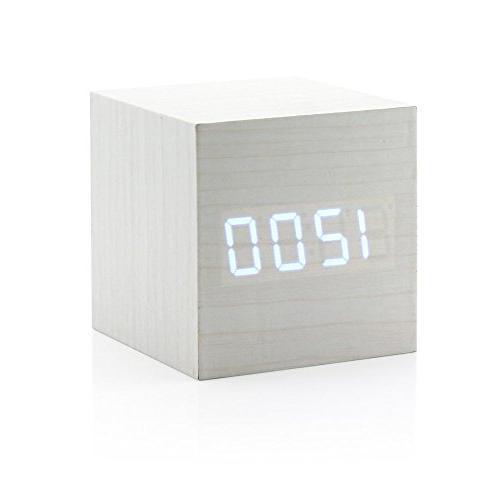 Ultra Modern Digital Clock Thermometer Timer - White