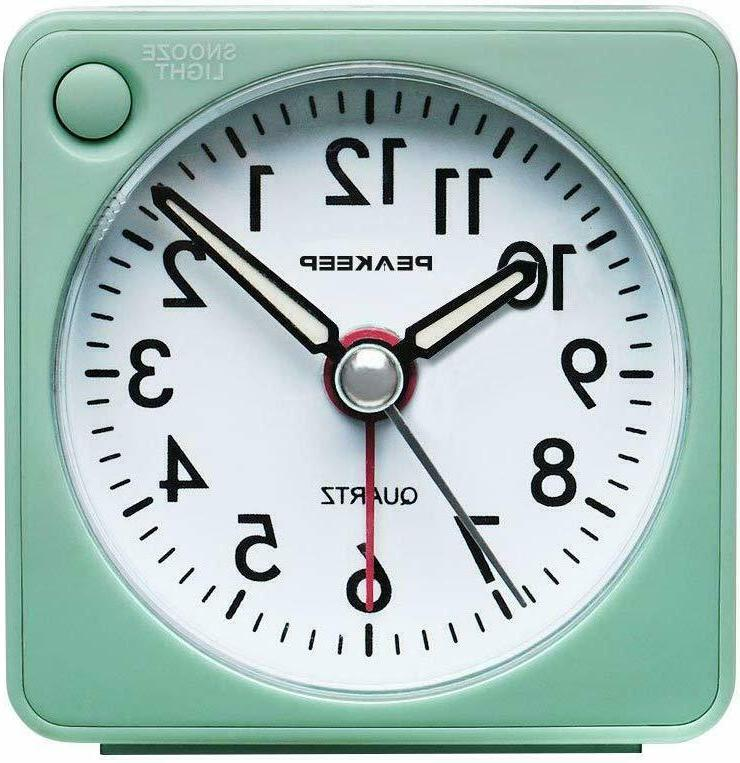 Peakeep Ultra Small, Battery Travel Alarm Clock with Snooze