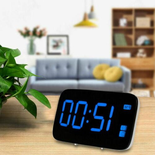 US Digital Clock Screen Snooze USB/Battery Powered Voice Control