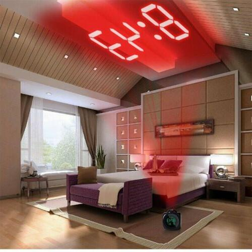 US Digital Projection Alarm Clock With Display Voice