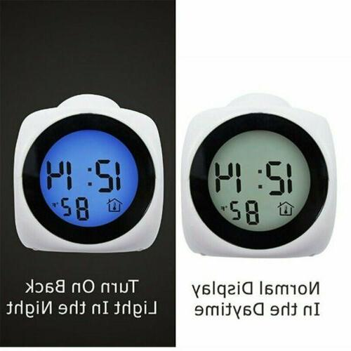 US Alarm Clock With LCD Voice