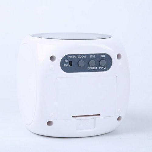US Digital Alarm Clock LCD Voice Talking Projector