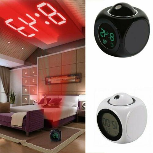 us digital projection alarm clock with lcd