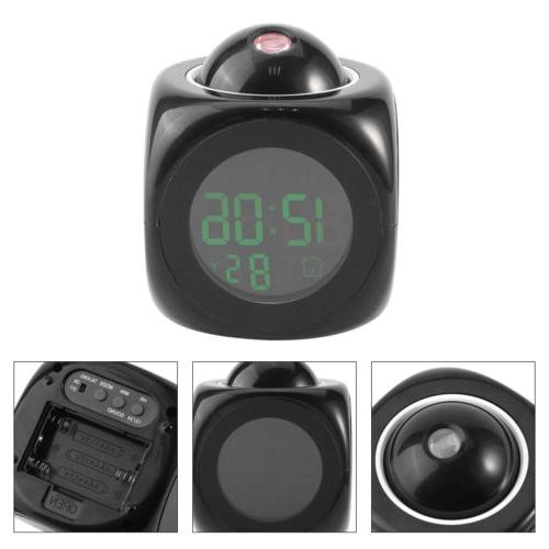 US Alarm Digital Time Wall Projection for Bedroom