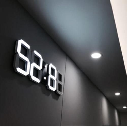 digital 3d led wall desk clock snooze