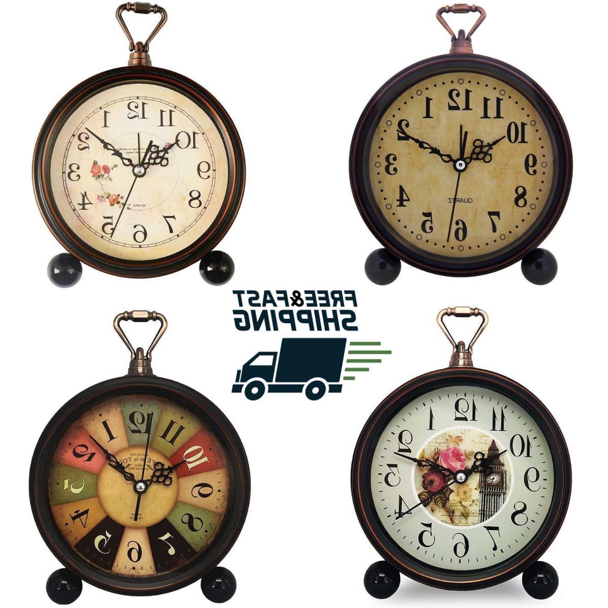 vintage alarm clock old fashion retro shelf