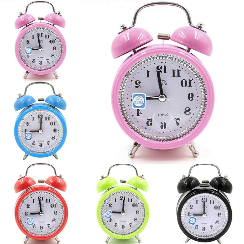 Classic Twin Alarm Clock Quartz Lights