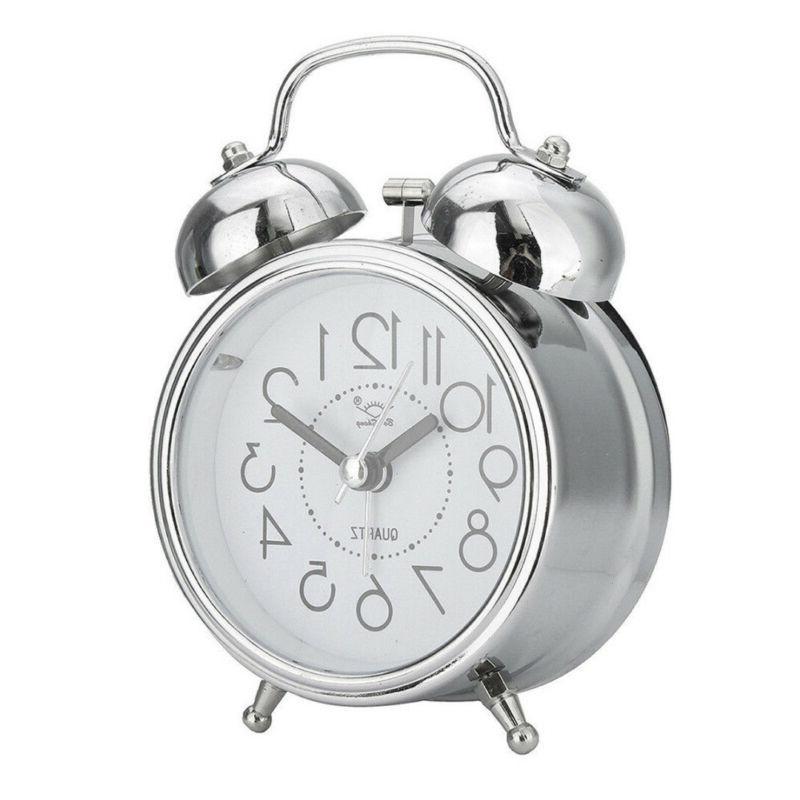Vintage Silent Alarm Loud Twin Quartz Analog