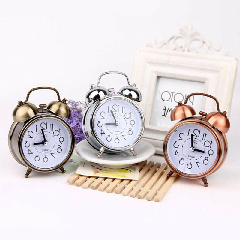 Vintage Silent Alarm Clock Loud Quartz