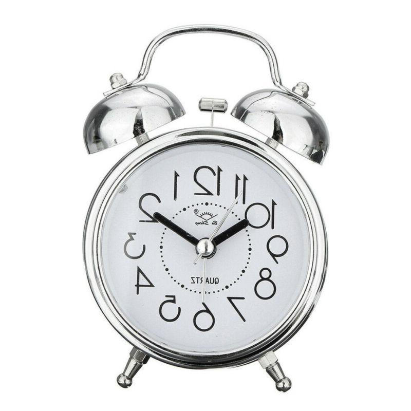 Vintage Silent Alarm Clock Loud Twin Bell Quartz