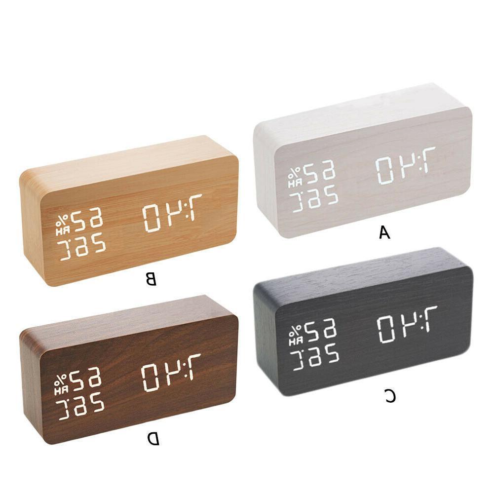 Digital Alarm LED Temperature Voice Control