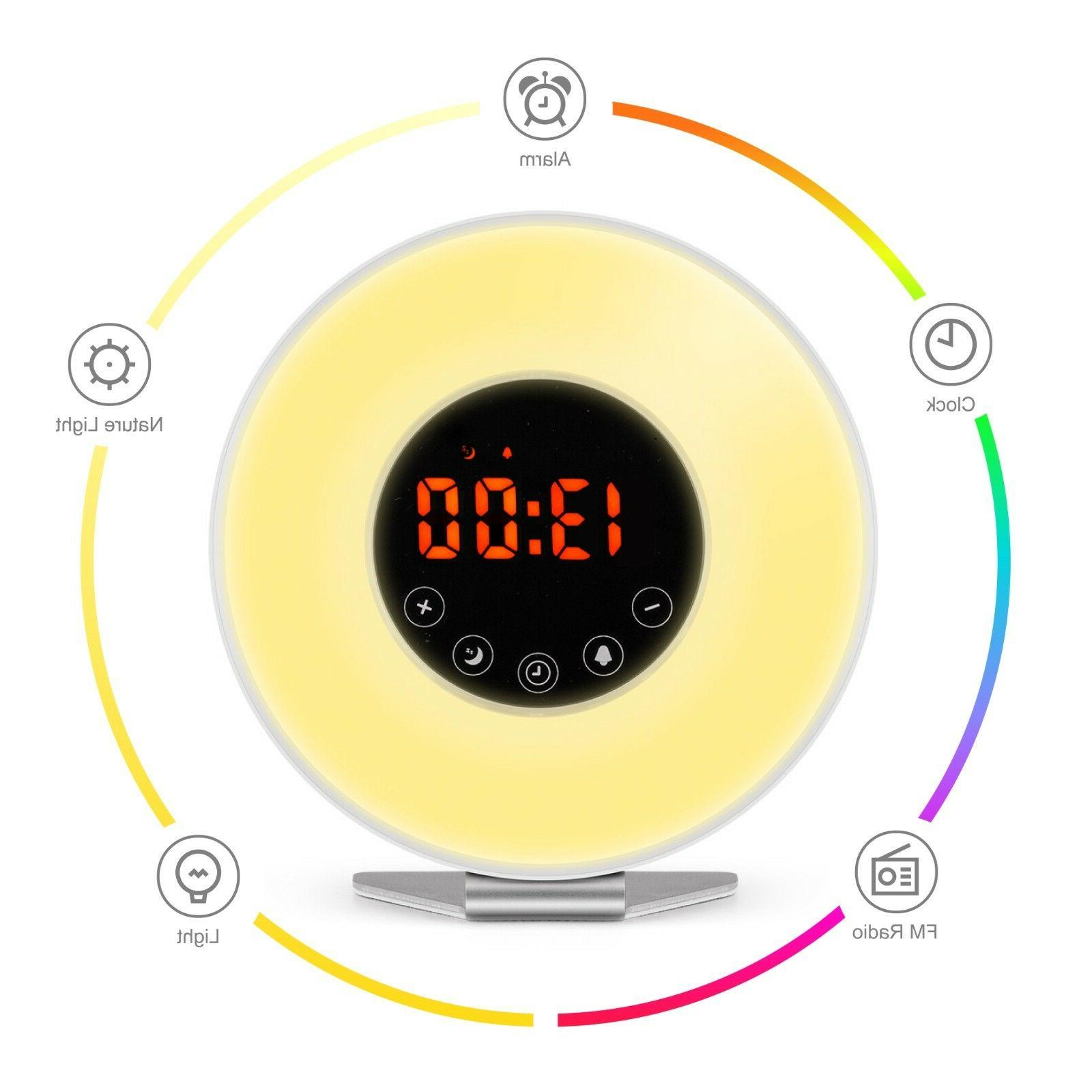 Wake Up Clock Digital LED Color Switch Natural